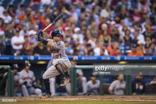 Houston Astros Jose Altuve in action at bat vs Philadelphia Phillies at Citizens Bank Park Philadelphia PA CREDIT Al Tielemans