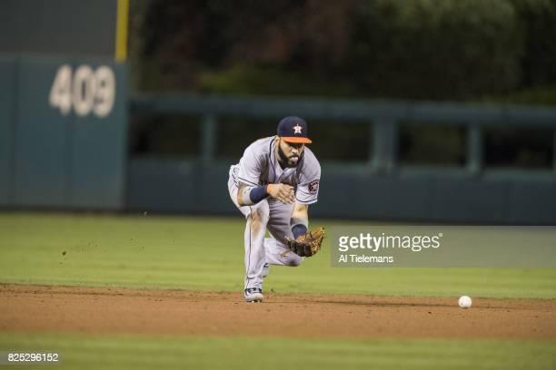 Houston Astros Marwin Gonzalez in action fielding vs Philadelphia Phillies at Citizens Bank Park Philadelphia PA CREDIT Al Tielemans