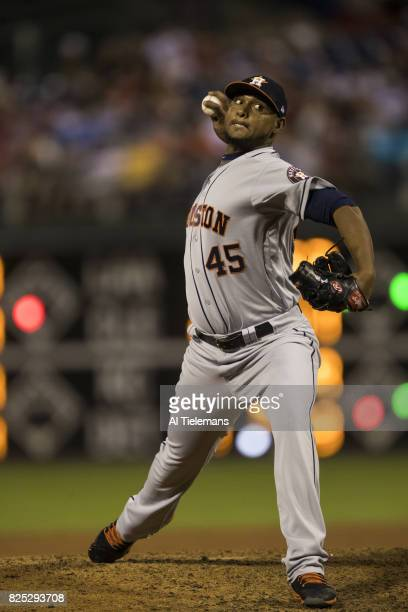 Houston Astros Michael Feliz in action pitching vs Philadelphia Phillies at Citizens Bank Park Philadelphia PA CREDIT Al Tielemans