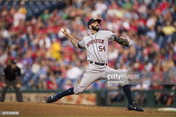 Houston Astros Mike Fiers in action pitching vs Philadelphia Phillies at Citizens Bank Park Philadelphia PA CREDIT Al Tielemans