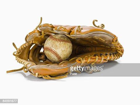 Baseball in Baseball Glove