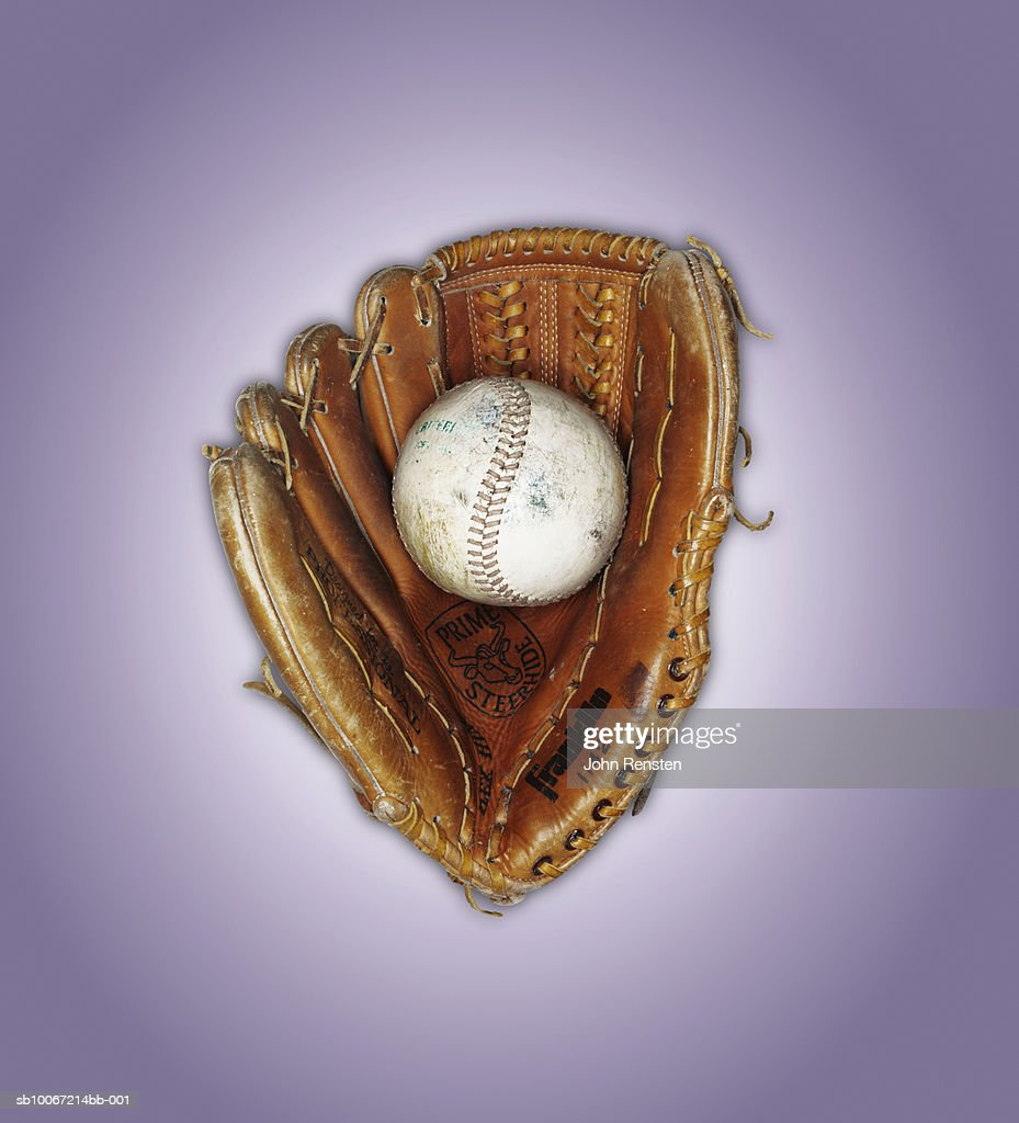 Baseball in catcher's mitt