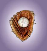 Baseball in catcher's mitt
