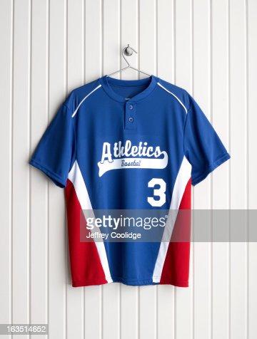 Baseball Jersey on Coat Hanger