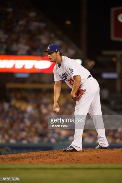 Los Angeles Dodgers Yu Darvish during game vs Chicago White Sox at Dodger Stadium Los Angeles CA CREDIT Robert Beck