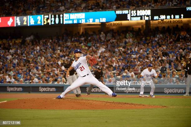 Los Angeles Dodgers Yu Darvish in action pitching vs Chicago White Sox at Dodger Stadium Los Angeles CA CREDIT Robert Beck