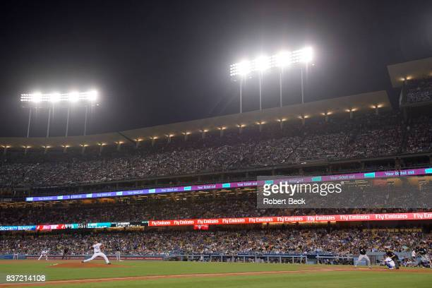 Los Angeles Dodgers Yu Darvish in action pitching vs Chicago White Sox Nicky Delmonico at Dodger Stadium Los Angeles CA CREDIT Robert Beck