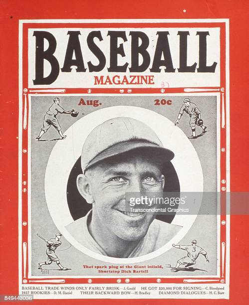 Baseball Magazine features a portrait of baseball player Dick Bartell