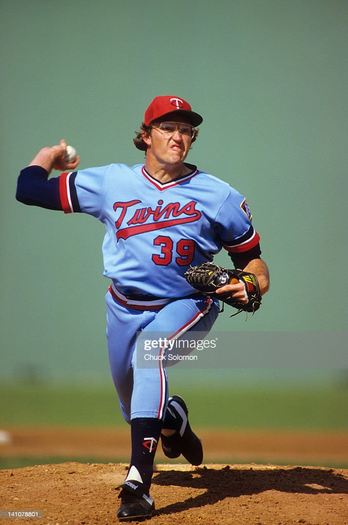 Minnesota Twins Ron Davis in action pitching vs Philadelphia Phillies during spring training at Jack Russell Memorial Stadium Clearwater FL CREDIT...