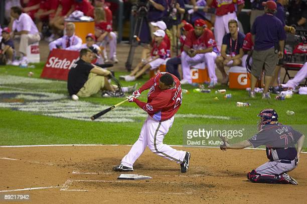 MLB State Farm Home Run Derby Milwaukee Brewers Prince Fielder in action at bat during All Star Weekend at Busch Stadium St Louis MO 7/13/2009 CREDIT...