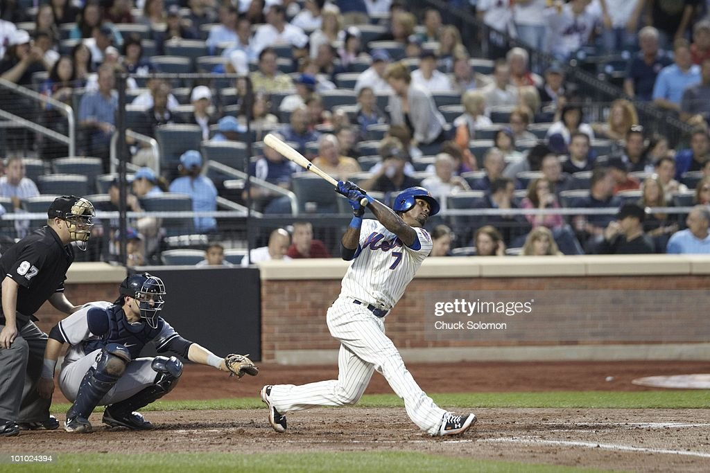 New York Mets Jose Reyes (7) in action, at bat vs New York Yankees. Flushing, NY 5/22/2010