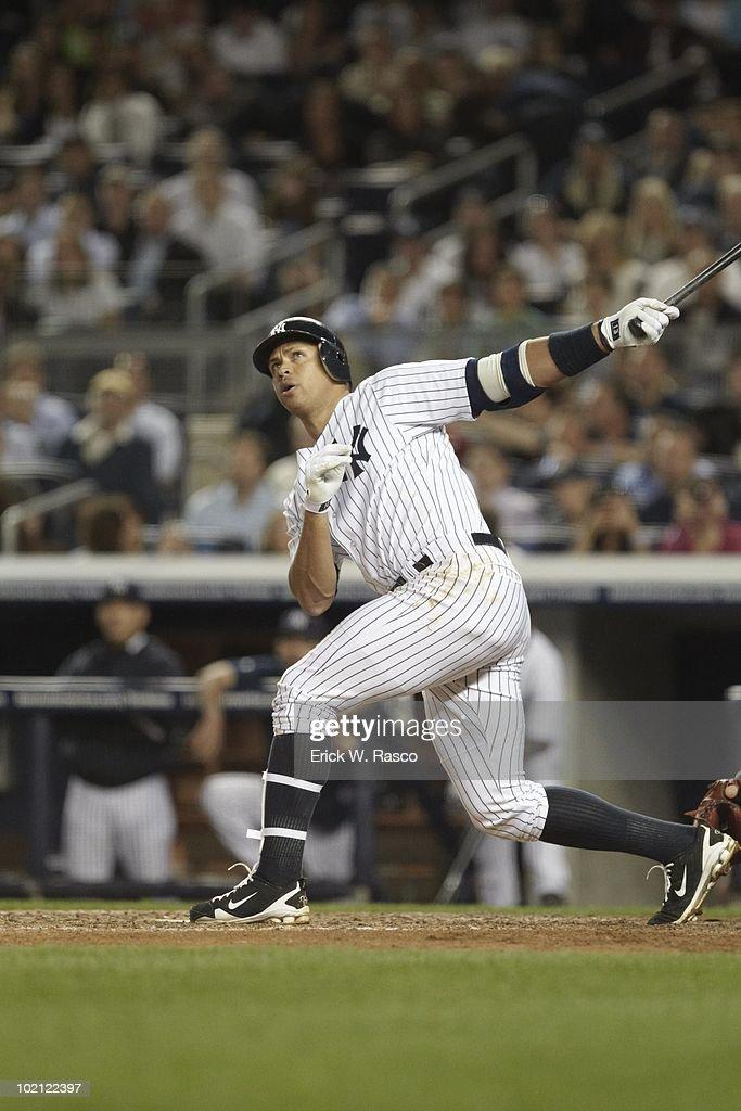 New York Yankees Alex Rodriguez (13) in action, at bat vs Baltimore Orioles. Bronx, NY 5/4/2010