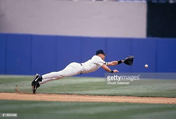Baseball New York Yankees Derek Jeter in action vs Baltimore Orioles Bronx NY 6/29/1996