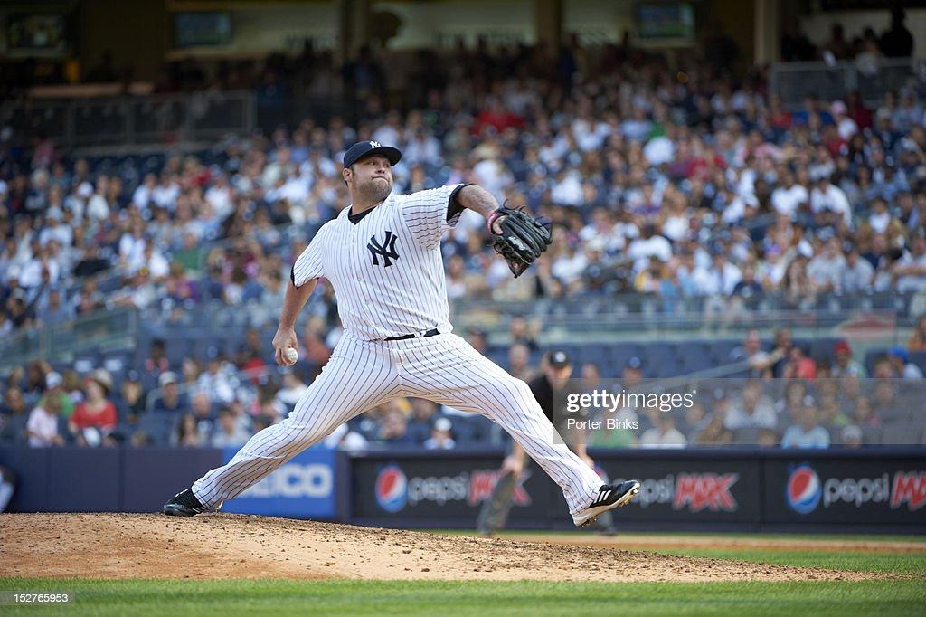 New York Yankees Joba Chamberlain (62) in action, pitching vs Oakland Athletics at Yankee Stadium. Porter Binks F74 )