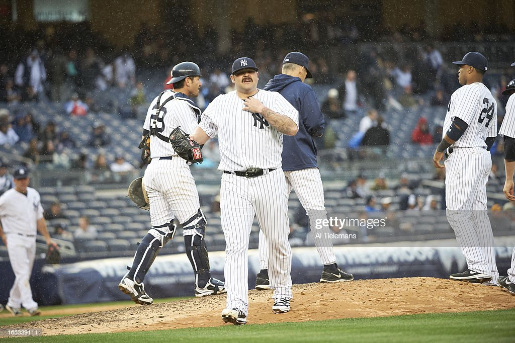 New York Yankees Joba Chamberlain (62) on field during game vs Boston Red Sox at Yankee Stadium. Al Tielemans F48 )