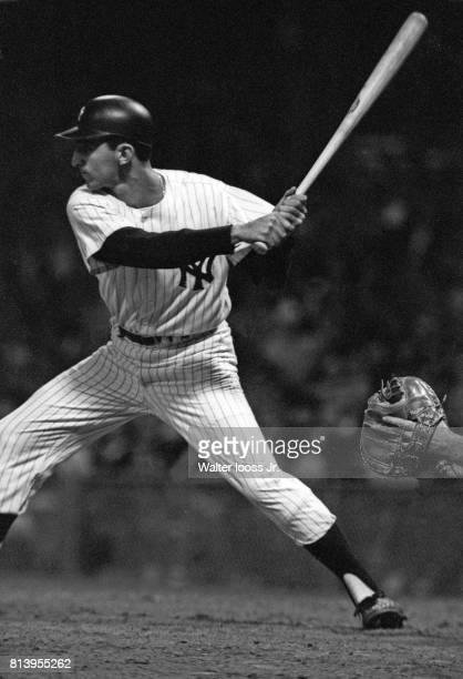 New York Yankees Joe Pepitone in action against Kansas City Athletics at Yankee Stadium Bronx NY CREDIT Walter Iooss Jr