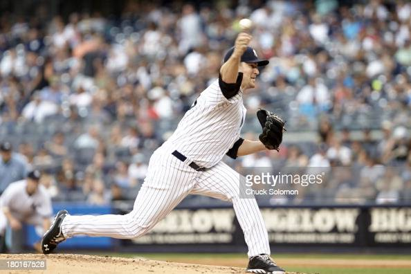 New York Yankees Phil Hughes in action pitching vs Chicago White Sox at Yankee Stadium Bronx NY CREDIT Chuck Solomon