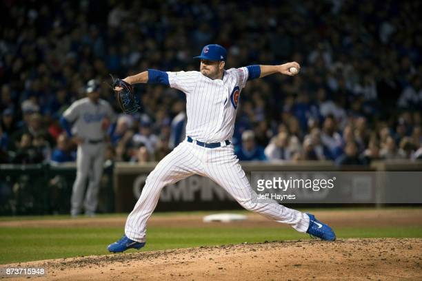NLCS Playoffs Chicago Cubs Brian Duensing in action pitching vs Los Angeles Dodgers at Wrigley Field Game 5 Chicago IL CREDIT Jeff Haynes