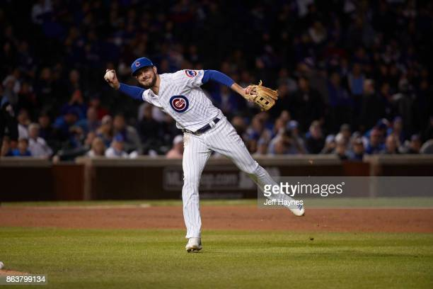 NLCS Playoffs Chicago Cubs Kris Bryant in action throwing vs Los Angeles Dodgers at Wrigley Field Game 3 Chicago IL CREDIT Jeff Haynes