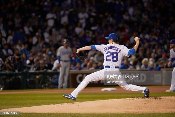 NLCS Playoffs Chicago Cubs Kyle Kendricks in action pitching vs Los Angeles Dodgers at Wrigley Field Game 3 Chicago IL CREDIT Jeff Haynes