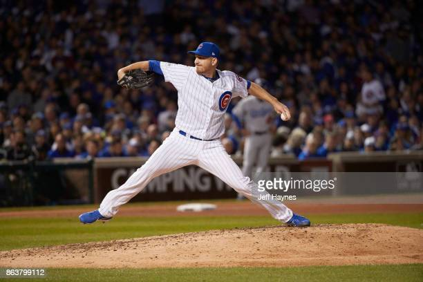 NLCS Playoffs Chicago Cubs Mike Montgomery in action pitching vs Los Angeles Dodgers at Wrigley Field Game 3 Chicago IL CREDIT Jeff Haynes