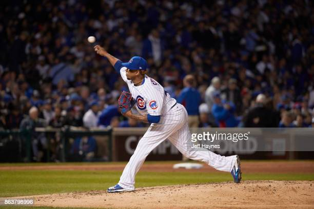 NLCS Playoffs Chicago Cubs Pedro Strop in action pitching vs Los Angeles Dodgers at Wrigley Field Game 3 Chicago IL CREDIT Jeff Haynes