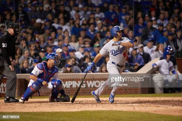NLCS Playoffs Los Angeles Dodgers Andre Ethier in action at bat vs Chicago Cubs at Wrigley Field Game 3 Chicago IL CREDIT Jeff Haynes