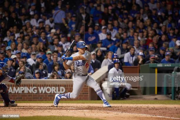 NLCS Playoffs Los Angeles Dodgers Austin Barnes in action at bat vs Chicago Cubs at Wrigley Field Game 3 Chicago IL CREDIT Jeff Haynes
