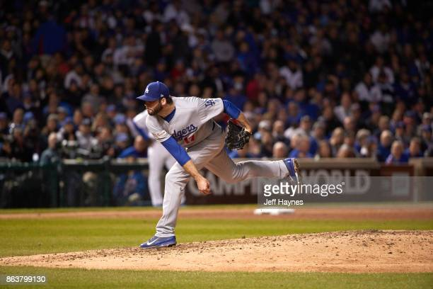 NLCS Playoffs Los Angeles Dodgers Brandon Morrown in action pitching vs Chicago Cubs at Wrigley Field Game 3 Chicago IL CREDIT Jeff Haynes