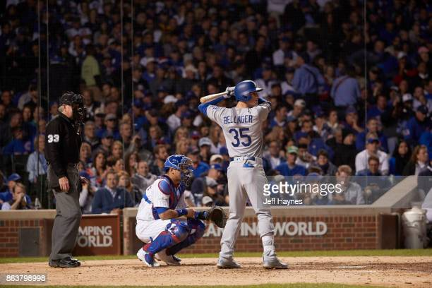 NLCS Playoffs Los Angeles Dodgers Cody Bellinger during at bat vs Chicago Cubs at Wrigley Field Game 3 Chicago IL CREDIT Jeff Haynes
