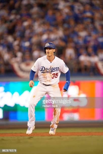 NLCS Playoffs Los Angeles Dodgers Cody Bellinger during game vs Chicago Cubs at Dodger Stadium Game 1 Los Angeles CA CREDIT Robert Beck
