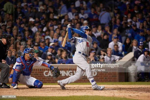 NLCS Playoffs Los Angeles Dodgers Cody Bellinger in action at bat vs Chicago Cubs at Wrigley Field Game 3 Chicago IL CREDIT Jeff Haynes