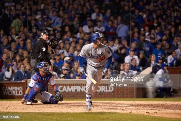 NLCS Playoffs Los Angeles Dodgers Cody Bellinger in action running bases vs Chicago Cubs at Wrigley Field Game 3 Chicago IL CREDIT Jeff Haynes