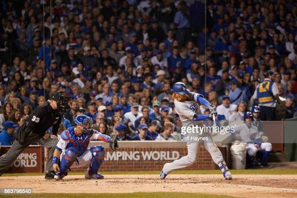 NLCS Playoffs Los Angeles Dodgers Justin Turner in action at bat vs Chicago Cubs at Wrigley Field Game 3 Chicago IL CREDIT Jeff Haynes