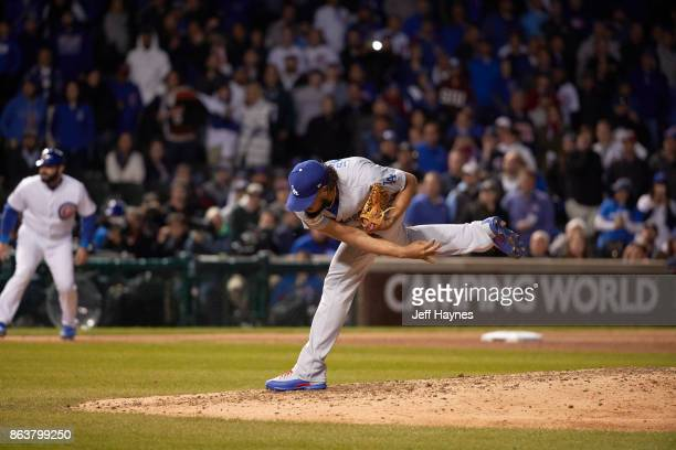 NLCS Playoffs Los Angeles Dodgers Kenley Jansen in action pitching vs Chicago Cubs at Wrigley Field Game 3 Chicago IL CREDIT Jeff Haynes