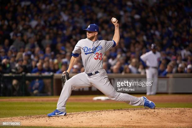 NLCS Playoffs Los Angeles Dodgers Tony Watson in action pitching vs Chicago Cubs at Wrigley Field Game 3 Chicago IL CREDIT Jeff Haynes