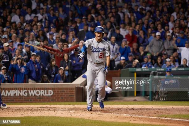 NLCS Playoffs Los Angeles Dodgers Yu Darvish after at bat vs Chicago Cubs at Wrigley Field Game 3 Chicago IL CREDIT Jeff Haynes