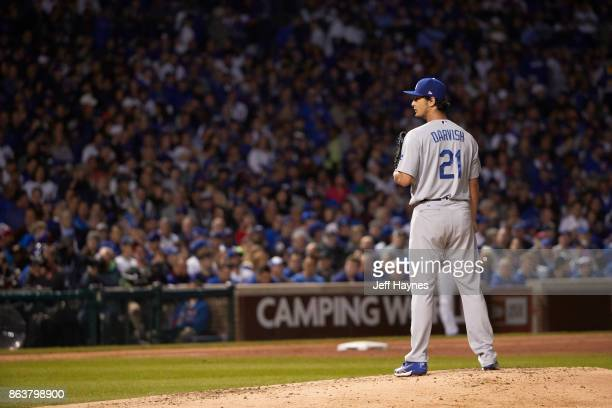 NLCS Playoffs Los Angeles Dodgers Yu Darvish during game vs Chicago Cubs at Wrigley Field Game 3 Chicago IL CREDIT Jeff Haynes