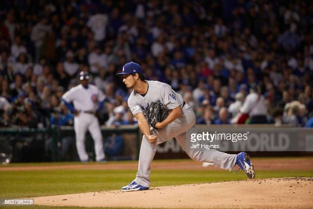 NLCS Playoffs Los Angeles Dodgers Yu Darvish in action pitching vs Chicago Cubs at Wrigley Field Game 3 Chicago IL CREDIT Jeff Haynes