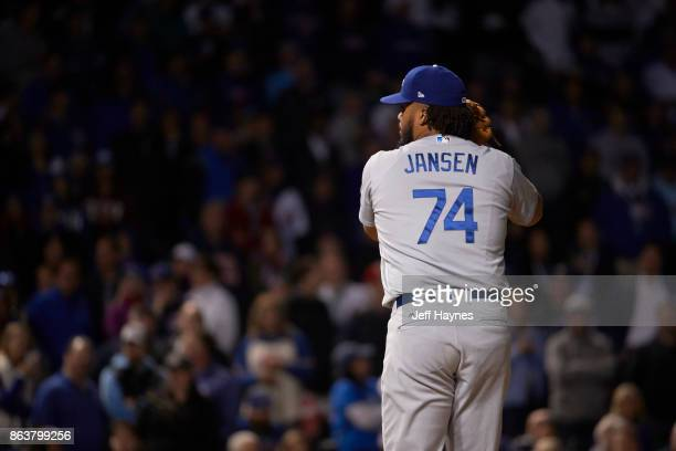 NLCS Playoffs Rear view of Los Angeles Dodgers Kenley Jansen during game vs Chicago Cubs at Wrigley Field Game 3 Chicago IL CREDIT Jeff Haynes