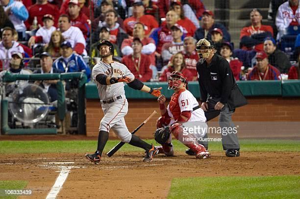NLCS Playoffs San Francisco Giants Cody Ross in action at bat vs Philadelphia Phillies Game 6 Philadelphia PA CREDIT Heinz Kluetmeier