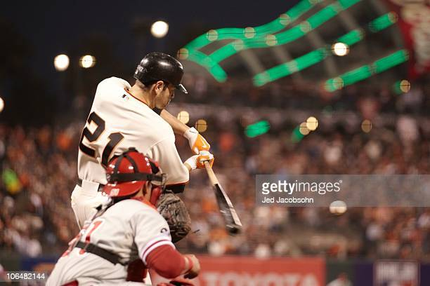 NLCS Playoffs San Francisco Giants Freddy Sanchez in action vs Philadelphia Phillies Game 4 San Francisco CA CREDIT Jed Jacobsohn