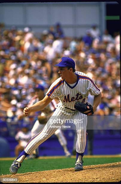 NY Mets David Cone in action alone vs Phila Phillies