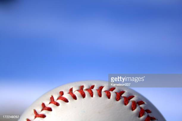 Baseball on blue sky