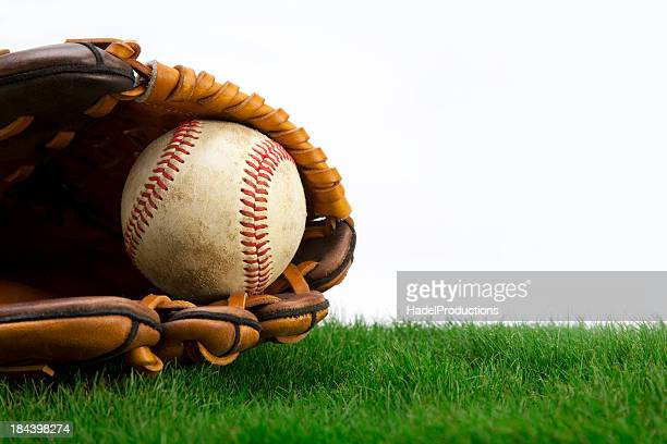 Baseball on Grass with Glove