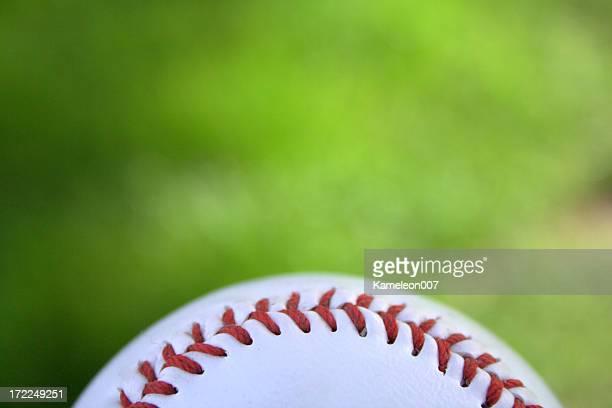 baseball on green background