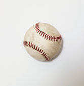 Baseball on white background, close-up