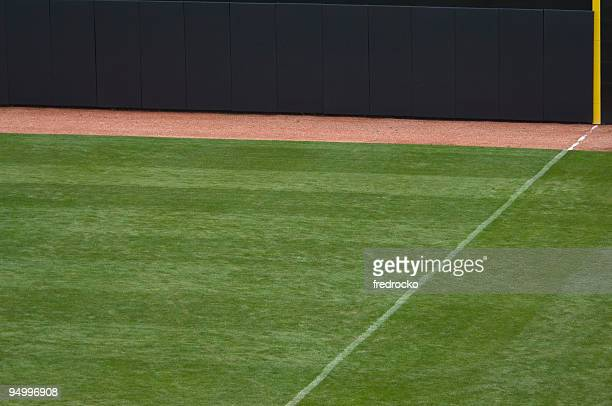 Baseball Outfield of Baseball Field at Baseball Game