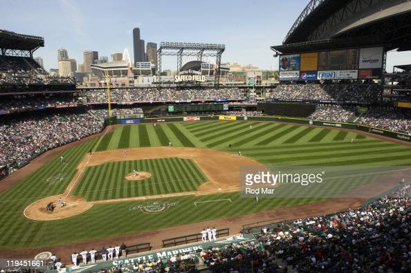 Overall view of stadium during Seattle Mariners vs Detroit Tigers game at Safeco Field Seattle WA CREDIT Rod Mar