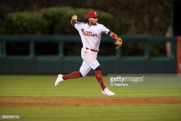 Philadelphia Phillies Freddy Galvis in action vs Houston Astros at Citizens Bank Park Philadelphia PA CREDIT Al Tielemans